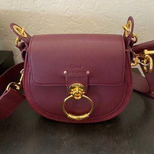 CHLOE Tess Shoulder Bag Small in Burgundy